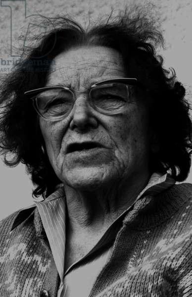 Dora Russell, 1983 (b/w photo)
