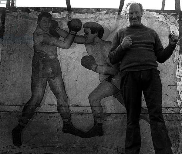 Fairground Boxing 1, 1972 (b/w photo)