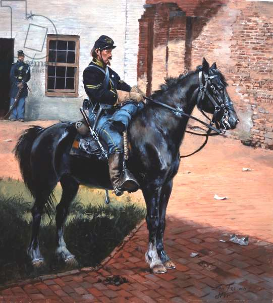 Union Cavalryman Waiting For Dispatches, 1995 (w/c & gouache on paper)