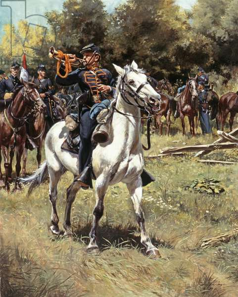 Bugler, 2nd United States Cavalry 1861, 1989 (oil on canvas)