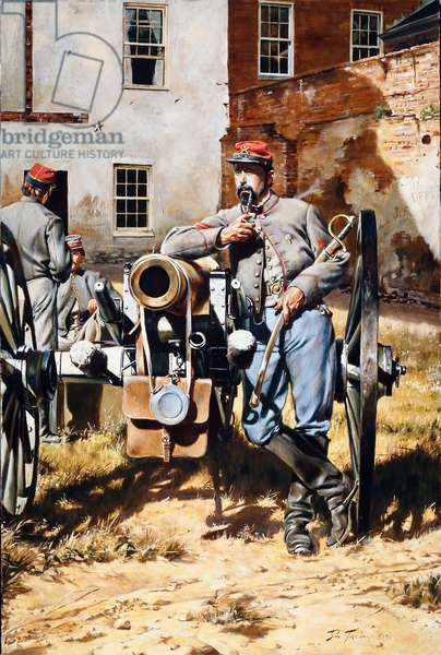 Confederate Army, Washington Artillery Of New Orleans, 1990 (oil on canvas)