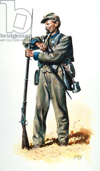 Confederate Army, 29th Alabama Infantry, Spring of 1864, 1991 (w/c & gouache on paper)