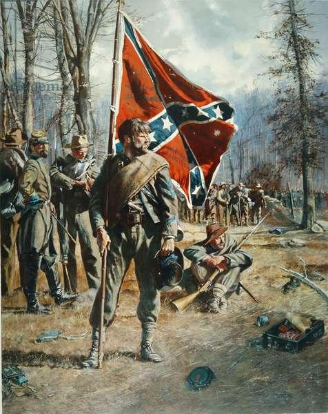 Confederate Standard Bearer, 1982 (oil on canvas)