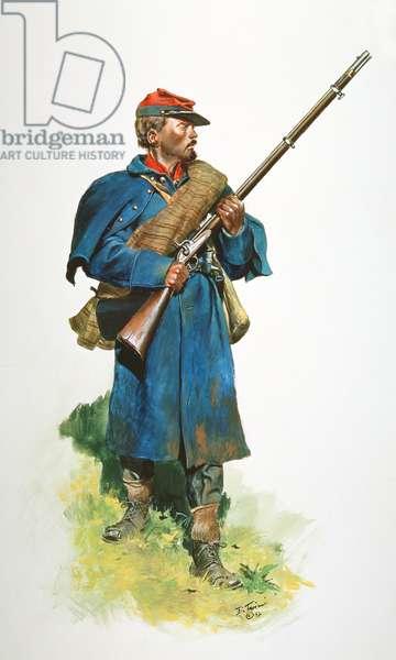 Confederate Army, Crutchfield's Virginia Heavy Artillery Battalion 1865, 1992 (w/c & gouache on paper)