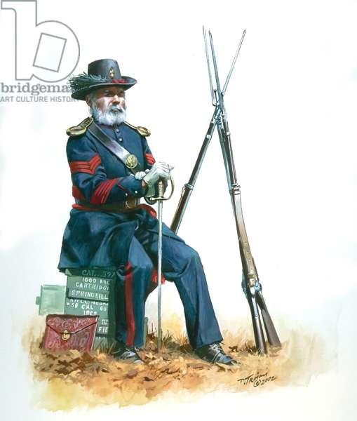 Union Army Sergeant of Ordnance, 2002 (w/c & gouache on paper)