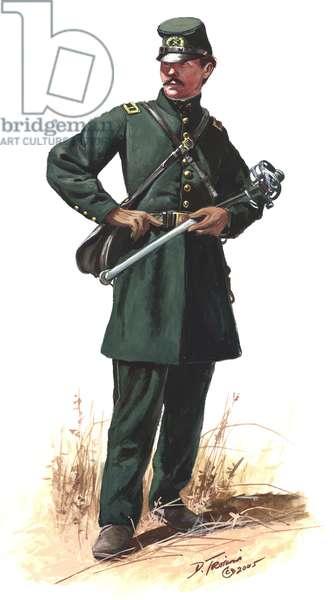 Officer of Berdan's Sharp Shooters 1862, 2005 (w/c & gouache on paper)