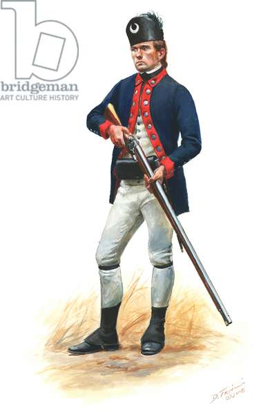 Continental Army, 2nd South Carolina Regiment Private 1776, 2008 (w/c & gouache on paper)
