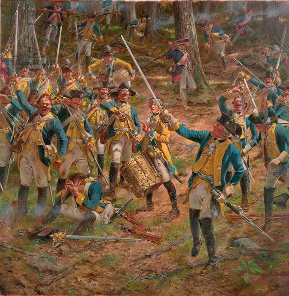 American Revolution, Broadswords at Bennington in 1777, 2018 (oil on canvas)