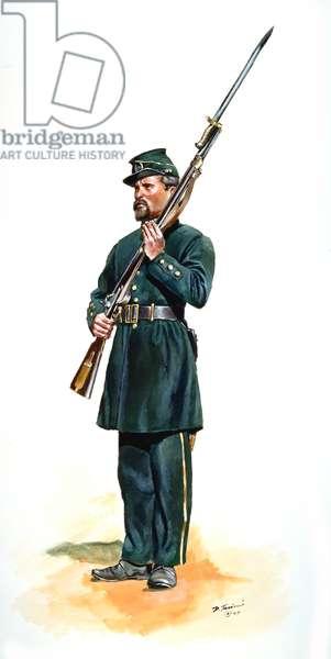 Confederate Army, 5th Georgia Regiment - Clinch Rifles, 1997 (w/c & gouache on paper)