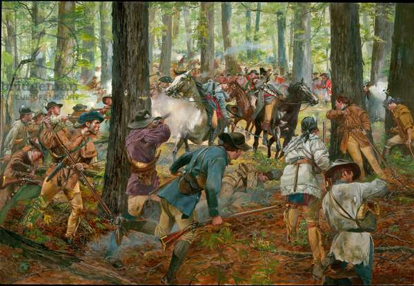 The Battle of King's Mountain, May 1780, 2006 (oil on canvas)