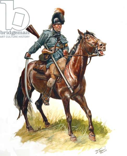 North Carolina Rifle Dragoon 1780-1781, 2007 (w/c & gouache on paper)