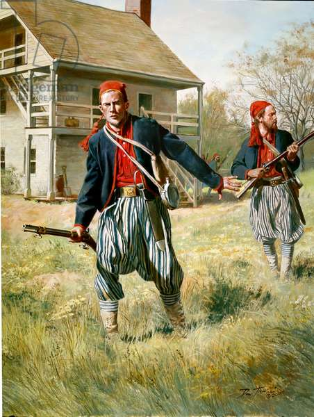 Wheat's 1st Special Battalion, Tiger Rifle Company, 1861, 2000 (oil on canvas)