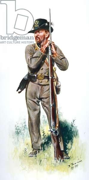 Confederate Army, 6th North Carolina, Flat River Guards Company B 1861, 1999 (w/c & gouache on paper)
