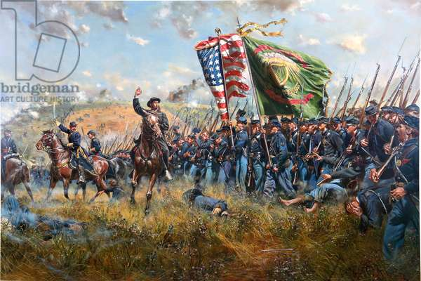 Sons Of Erin, American Civil War 1862, 1996 (oil on canvas)