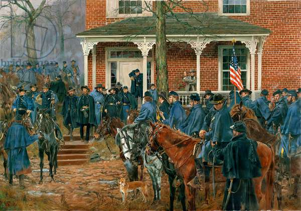 Sherman Leaving The Henegar House - December 1, 1863, 2012 (oil on canvas)