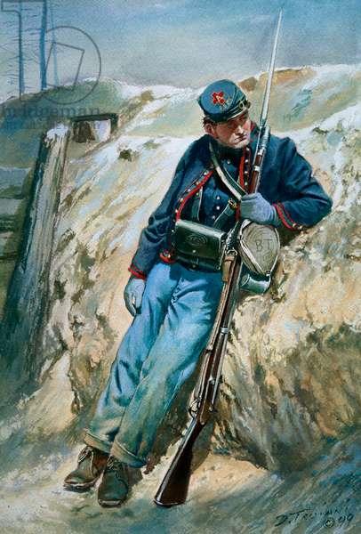 95th Pennsylvania Volunteers, Gosline's Zouaves 1864-1865, 1999 (w/c & gouache on paper)