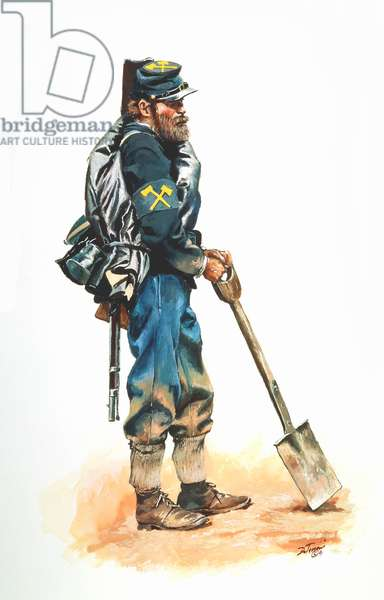 Union Army, Army of the Cumberland Pioneer Corps. 1864, 1991 (w/c & gouache on paper)