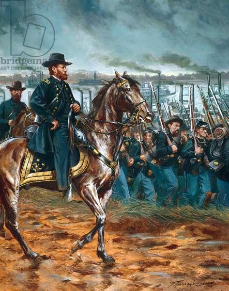Maj Gen U.S. Grant - 2003 (oil on canvas)