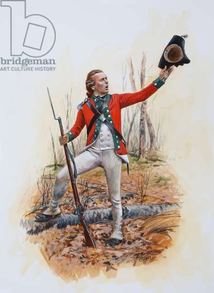 British Officer of the 45th Regiment of Foot in 1777-78, 2017 (w/c & gouache on paper)
