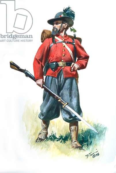 Confederacy, Garibaldi Legion of New Orleans 1861, 1998 (w/c & gouache on paper)