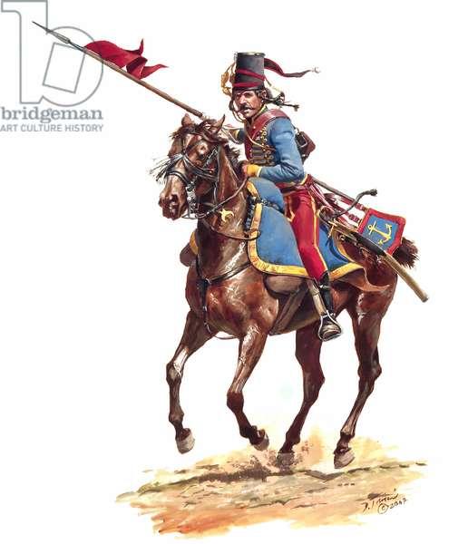 French Navy, Lancer Lauzun's Legion 1781, 2007 (w/c & gouache on paper)
