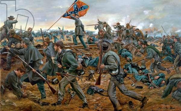 Onward Georgians, Battle Of Fredericksburg, 2006 (oil on canvas)