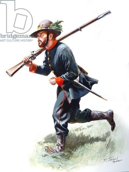 39th New York Volunteers, Garibaldi Guard 1861, 2000 (w/c & gouache on paper)