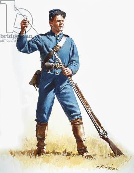 62nd Pennsylvania Volunteers, 33rd Independent Regt. 1861, 2001 (w/c & gouache on paper)