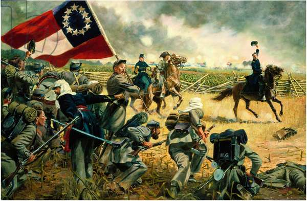The 4th Alabama Regiment, 1st Battle Of Bull Run, 1983 (oil on canvas)