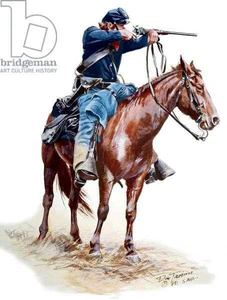 Union Cavalryman with Carbine, 1980 (w/c & gouache on paper)