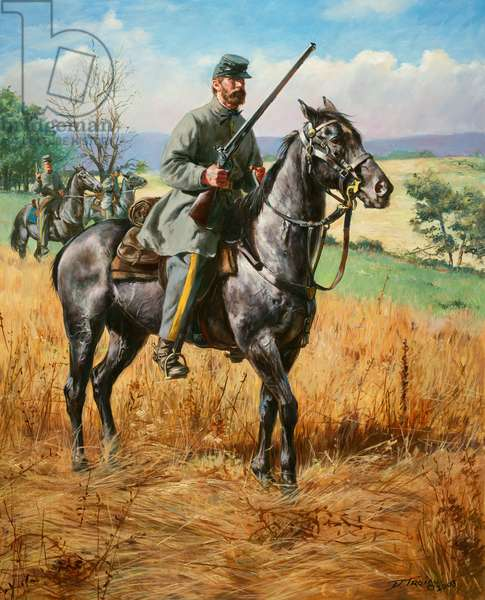 Confederate Army, 4th Virginia Cavalry, The Black Horse Troop, 1861, 2003 (oil on canvas)