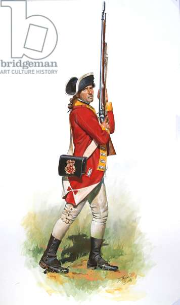 American Revolution; Soldier of the  57th Regiment in 1777, 2018 (w/c & gouache on paper)