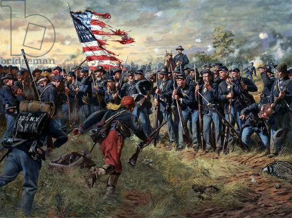 The First Minnesota Regiment, Gettysburg, Pennsylvania, July 2, 1863, 1999 (oil on canvas)