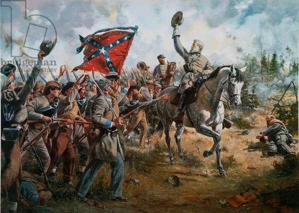 Lee's Texans - Battle of Spotsylvania, Virginia, 1984 (oil on canvas)