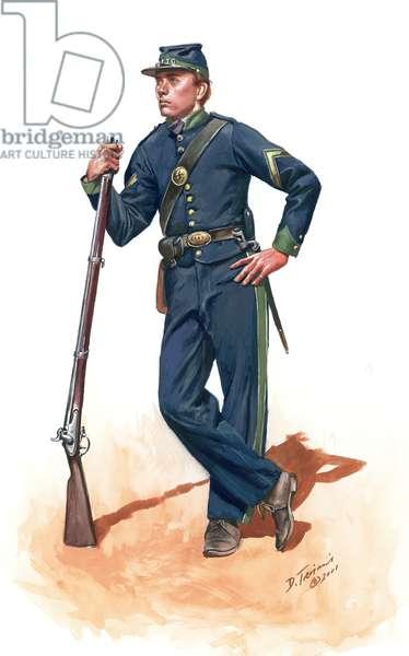 Confederacy, Irish Jasper Greens CSA, at Fort Pulaski, Savannah, Georgia in 1861, 2001 (w/c & gouache on paper)