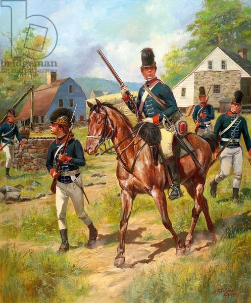 British 16th Light Dragoons, 2009 (oil on canvas)