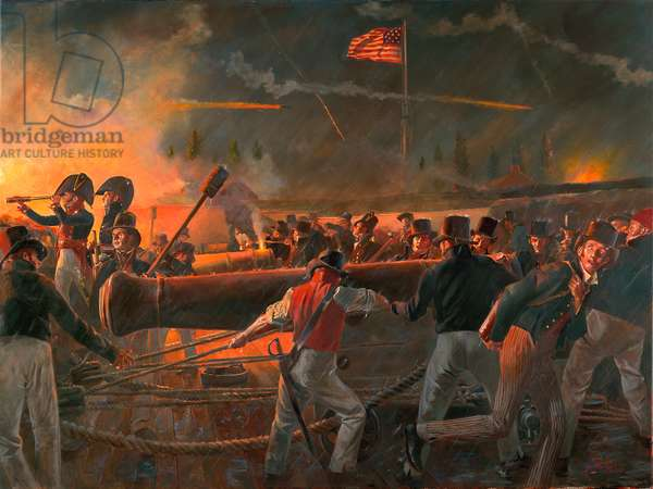 Our Flag was still there, War of 1812; The Defense of Fort McHenry. September 13 -14, 1814, 2012 (oil on canvas)