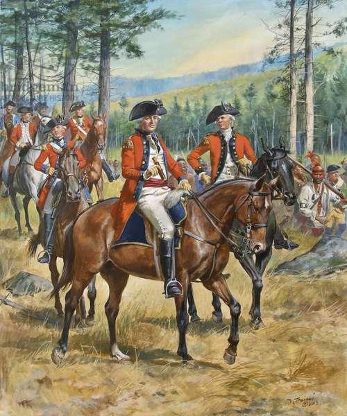 American Revolution, General John Burgoyne in 1777, 2018 (w/c & gouache on paper)