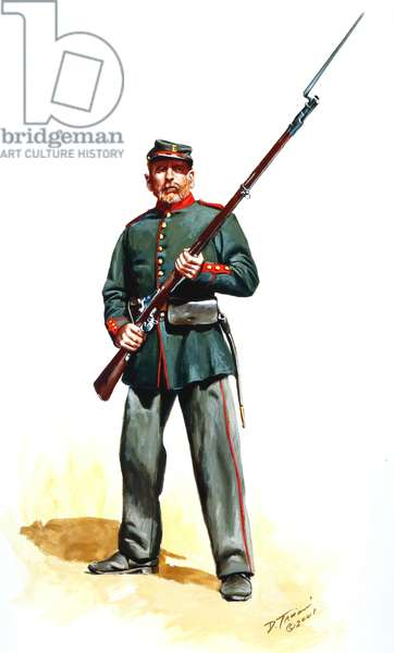 41st New York Volunteers, De Kalb Regiment, 2nd Jager, 2001 (w/c & gouache on paper)