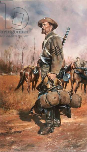 One Of Forrest's Men, U.S. Civil War, 1984 (oil on canvas)