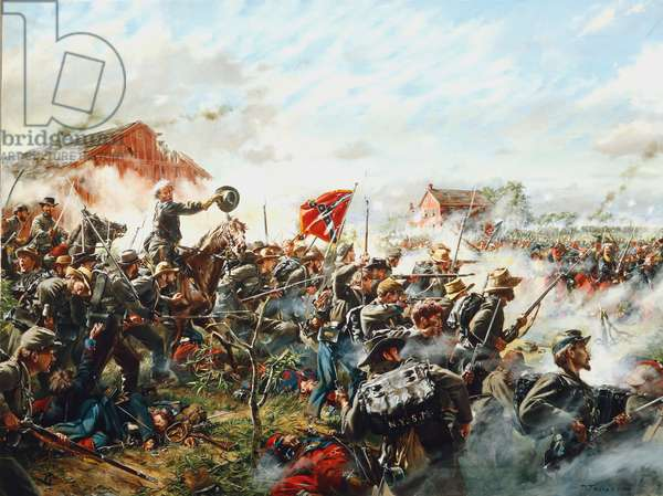 Barksdale's Charge, 1992 (oil on canvas)