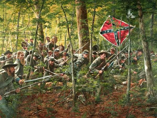 Jackson'S Flank Attack, Battle Of Chancellorsville, 2004 (oil on canvas)
