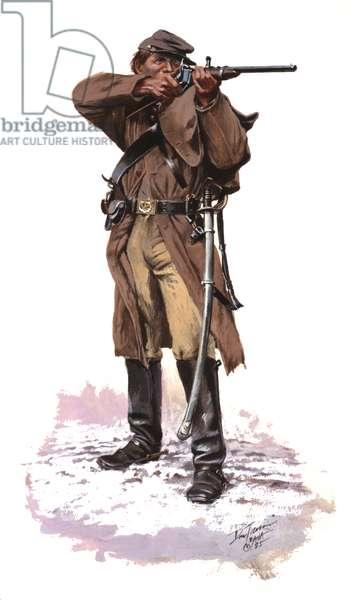 Confederate Cavalryman 1865, 1985 (w/c & gouache on paper)