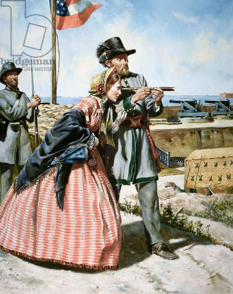 Confederate Army, 1st Regiment Of South Carolina Rifles; 1861, 1991 (oil on canvas)