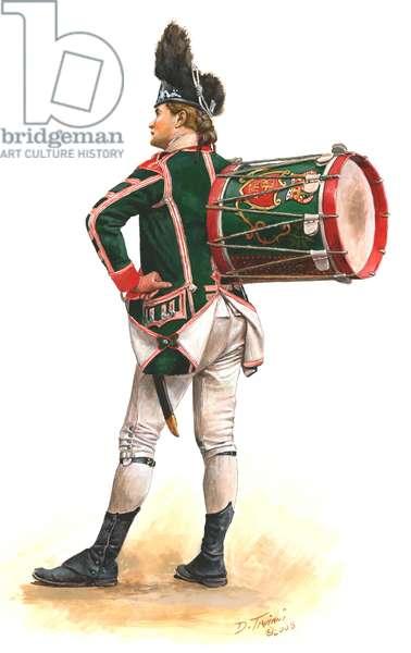 British 63rd Regiment of Foot, Drummer, 1776, 2008 (w/c & gouache on paper)