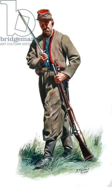 The 11th Indiana Zouaves, 1997 (w/c & gouache on paper)