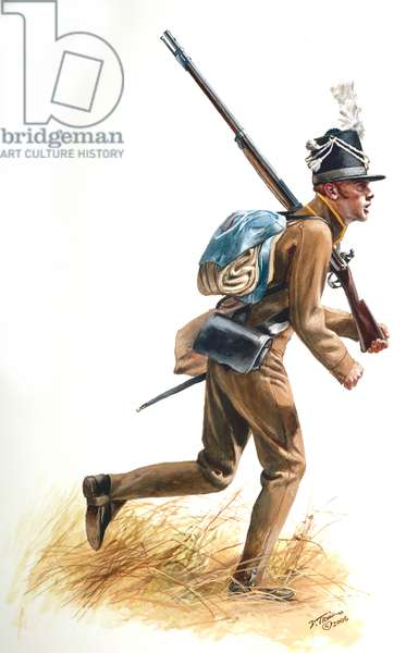 War of 1812, 17th U.S. Infantry at the Raisin River 1812, 2006 (w/c & gouache on paper)