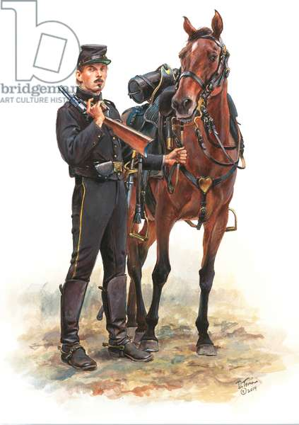 Fremont's Body Guard, Zagonyi's Battalion 1861 , 2014 (w/c & gouache on paper)
