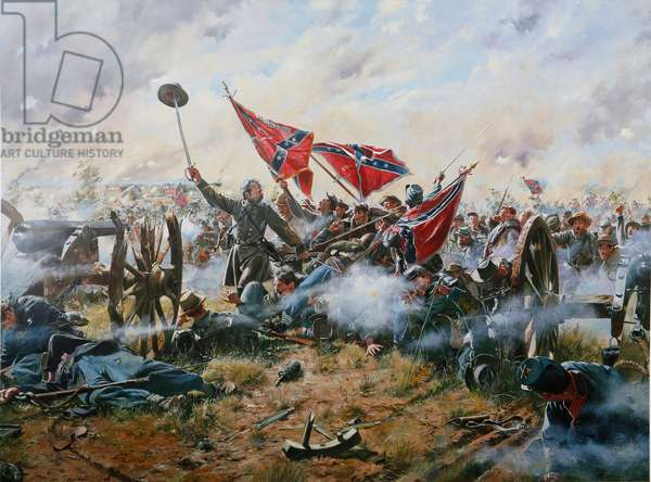 High Watermark, Pickett'S Charge, Gettysburg, 1994 (oil on canvas)