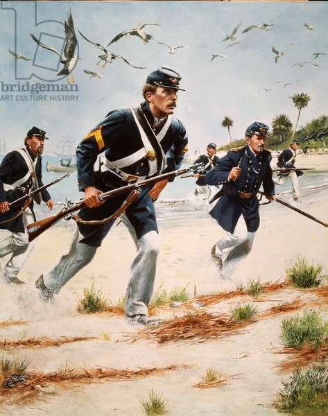 United States Marines, 1989 (oil on canvas)